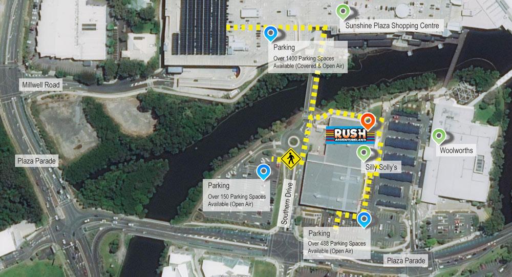 Rush Adventureland Location